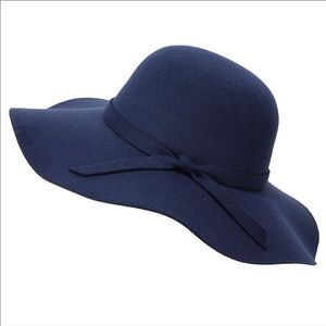 🆕Navy Blue Wide Brim Floppy Hat